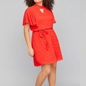 💫Lane Bryant Fit & Flare Red Dress NWT